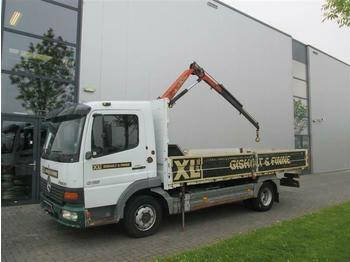 Camion plateau ridelle Mercedes-Benz ATEGO 815 4X2 WITH PALFINGER PK2408