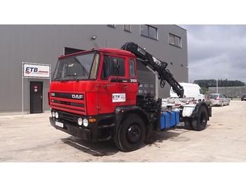 DAF 2100 (HIAB CRANE / FULL STEEL/ HOLLAND TRUCK) - camion porte-conteneur/ caisse mobile