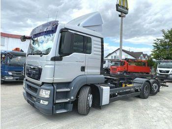 MAN TG-S 26.400 6x2-2 LL BDF  - camion porte-conteneur/ caisse mobile