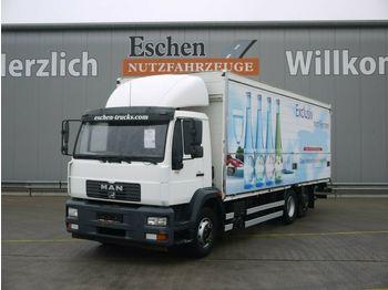 Camión transporte de bebidas MAN LE 20.280 6x2-4 LL, Böse Schwenkwandkoffer