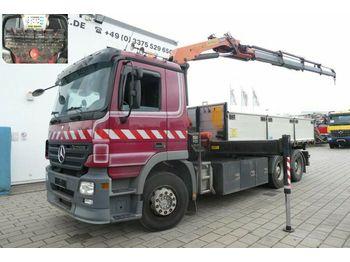 Mercedes-Benz Actros 2632 6x4 3-Achs Kipper Kran Palfinger PK  - camión volquete