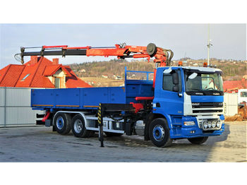 Dropside camion DAF CF 85.410*Pritsche 6,00m+KRAN *6x2*Topzustand!