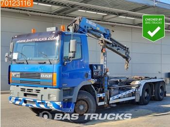 DAF Ginaf M 3232-S 380 6X4 Manual BigAxle HIAB 220-3C Euro 2 - portacontenedore/ intercambiable camión