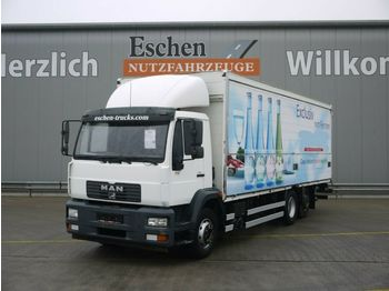 Transporte de bebidas camión MAN LE 20.280 6x2-4 LL, Böse Schwenkwandkoffer