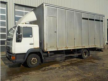 MAN 8.163 - transporte de ganado camión