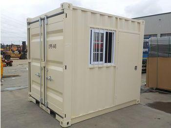 Unused 9' Container, Side Door, Window - conteneur comme habitat
