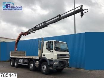 Ciężarówka burtowa DAF 85 CF 360 8x4, Manual, Palfinger crane, Steel suspension, euro 4