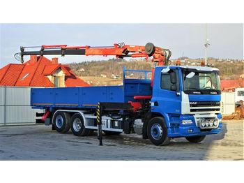 Ciężarówka burtowa DAF CF 85.410*Pritsche 6,00m+KRAN *6x2*Topzustand!