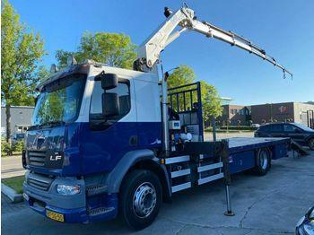 DAF LF 55.250 FA 4X2 MANUAL EURO 5 + HMF 1560K5 MET  - ciężarówka burtowa