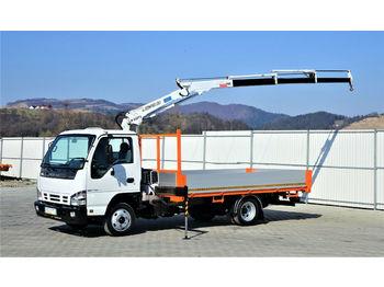 Ciężarówka burtowa Isuzu P35 * Pritsche 4,00m+Kran * Topzustand!: zdjęcie 1
