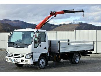 Ciężarówka burtowa Isuzu P35 * Pritsche 4,10m+Kran * Topzustand!