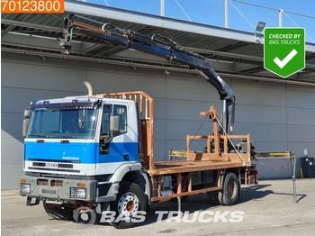 Iveco EuroTrakker 190E38 4X2 Manual Kran Crane Hiab 144 B2 HI-DUO XS - ciężarówka burtowa