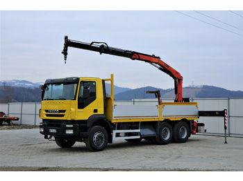 Ciężarówka burtowa Iveco Trakker 360 * Pritsche 6,10m + KRAN/FUNK * 6x4