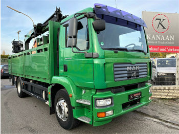 Ciężarówka burtowa MAN 18.330 TGM 4x2 BL Palfinger baustoffkran: zdjęcie 1