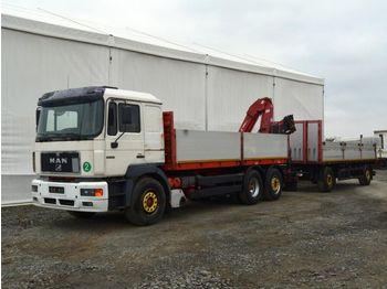 Ciężarówka burtowa MAN 26.343 + Panav, Amco Veba V815