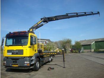 Ciężarówka burtowa MAN 26-350 6X2 PALFINGER PK27000-5 STUURAS