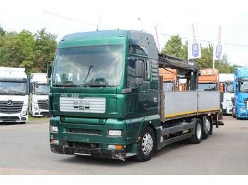 Ciężarówka burtowa MAN 26.413 FNLLW, Hydraulic Crane HIAB 185K