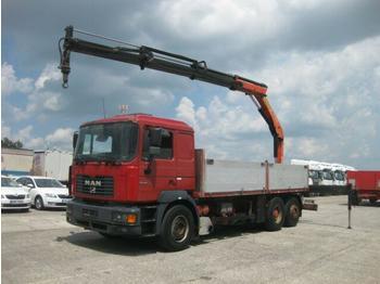 MAN - 26.464 6X2 Kran Palfinger PK15500 faltbar - ciężarówka burtowa
