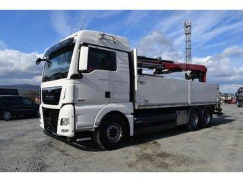 Ciężarówka burtowa MAN 26.480 XLX / 6x4 / Fassi F 195 AS / EURO 6