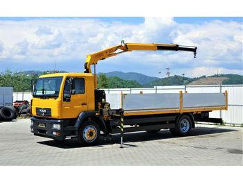 MAN LE 12.220  Pritsche 6,60 m+Kran*4x2*Topzustand!  - ciężarówka burtowa