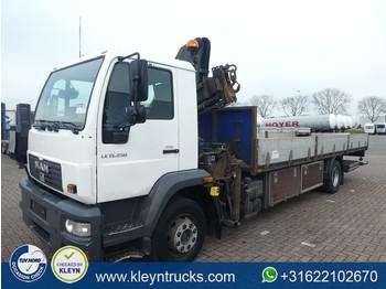 Ciężarówka burtowa MAN LE 15.250 LL hmf 913-k3+radio: zdjęcie 1