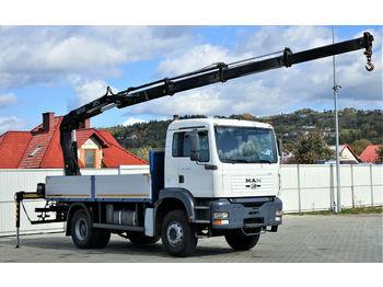 MAN TGA 18.410 Pritsche 4,80 m + Kran *4x2!  - ciężarówka burtowa