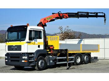 Ciężarówka burtowa MAN TGA 26.310 Pritsche 6,30m+ Kran *6x2*Topzustand!: zdjęcie 1