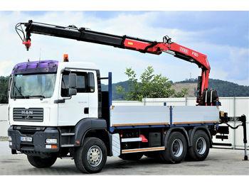 MAN TGA 26.350 Pritsche 5,60m +Kran*Top Zustand!  - ciężarówka burtowa