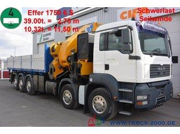 Ciężarówka burtowa MAN TGA 41.480 Effer 1750 6S 175T/M Winde 8T 60mSeil