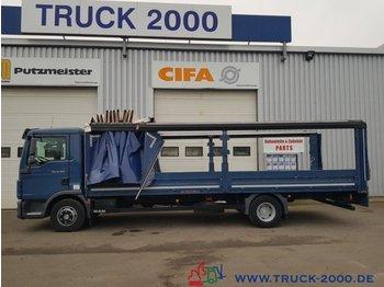 MAN TGL 12.250 Edscha L + R + Schiebeverdeck 1.Hand - ciężarówka burtowa