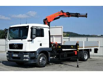 MAN TGM 18.280 Pritsche 6,10m + Kran * Topzustand!  - ciężarówka burtowa