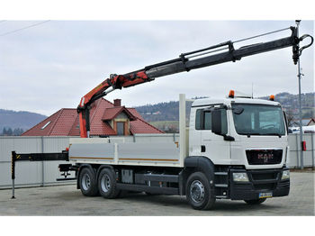 MAN TGS 26.360 Pritsche 6,80m+ Kran/FUNKTopzustand!  - ciężarówka burtowa