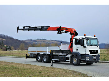 Ciężarówka burtowa MAN TGS 26.360 Pritsche 7,00m+ Kran/FUNK*Topzustand!