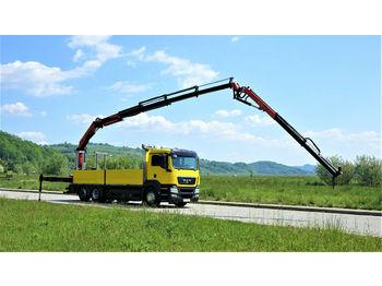 MAN TGS 26.360 Pritshe 6.50m+Kran+JIB/FUNK 6x2 !!!  - ciężarówka burtowa