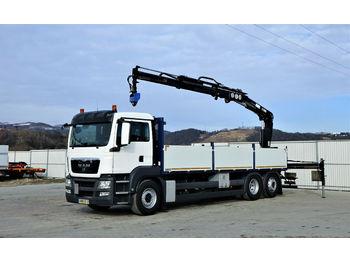 MAN TGS 26.400 Pritsche 7,30 m+Kran/FUNK*6x2!  - ciężarówka burtowa