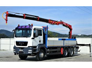 MAN TGS 33.440 Pritsche 6,30 m+Kran*6x4!  - ciężarówka burtowa