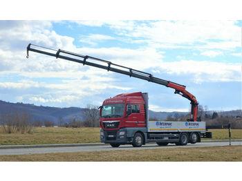 MAN TGX 26.440 Pritsche 6,80 m+Kran/FUNK*6x2!  - ciężarówka burtowa