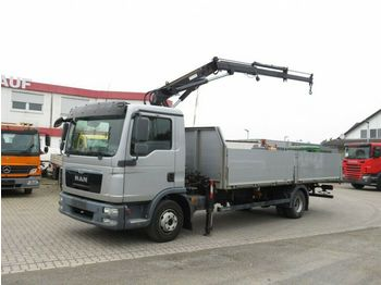 MAN TG-L 12.180 L Pritsche Kran super Zustand  - ciężarówka burtowa