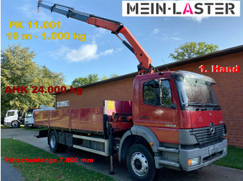 Ciężarówka burtowa Mercedes-Benz 1828 PK 11.001 10 m -1T. - 1.Hd. Fernbedienung