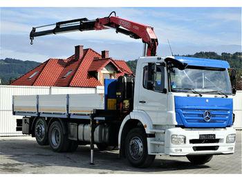 Ciężarówka burtowa Mercedes-Benz ACTROS Pritsche 6,50m + Kran Topzustand!