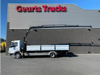 Mercedes-Benz ATEGO 818 4X2 + HIAB KRAAN/KRAN/CRANE/GRUA  - ciężarówka burtowa