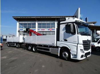 Ciężarówka burtowa Mercedes-Benz Actros 2745 L Baustoff + Kran