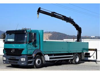 Ciężarówka burtowa Mercedes-Benz Axor 1828 Pritsche 7,40 m + KRAN