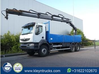 Renault KERAX 380 6x4 hiab 166b-4 hd - ciężarówka burtowa