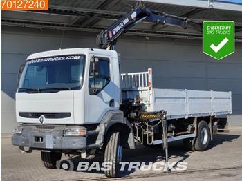Ciężarówka burtowa Renault Kerax 260 4X2 Crane Kran Euro 2 Hiab 112