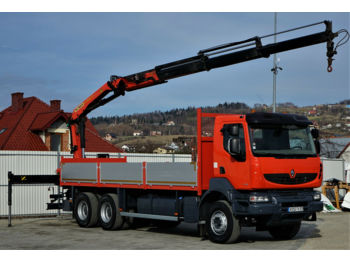 Ciężarówka burtowa Renault Kerax 370DXI Pritsche 7,00m+Kran Topzustand!