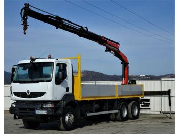 Ciężarówka burtowa Renault Kerax 370 DXI* Pritsche 6,70m+Kran*6x4Topzustand