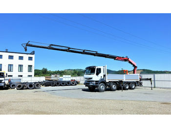 Renault Kerax 410 DXI*Pritsche6,60m+Kran/FUNK*Topzustand  - ciężarówka burtowa