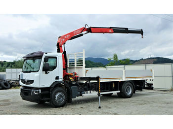 Renault  Premium 280 DXI Pritsche 6,60m+Kran*Topzustand!  - ciężarówka burtowa