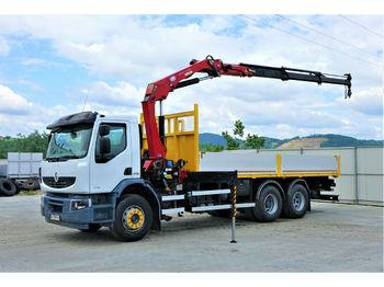 Renault  Premium 370 DXI Pritsche 6,50m+Kran/FUNK  - ciężarówka burtowa